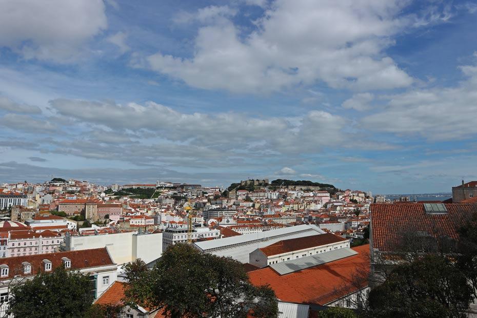 Lissabon Tipps: Blick vom Miradouro de Sao Pedro