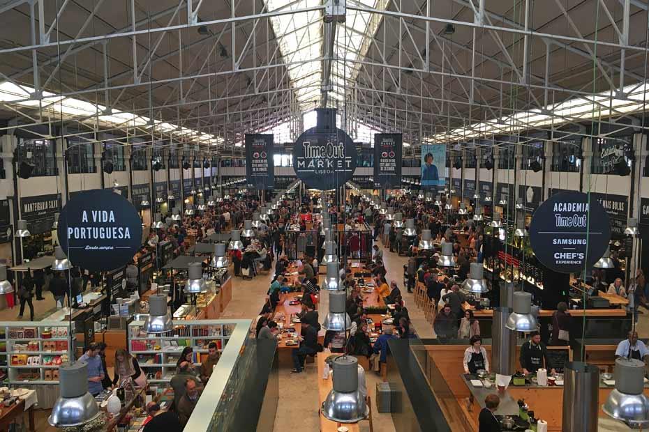 Lissabon Tipps: Time Out Market von innen