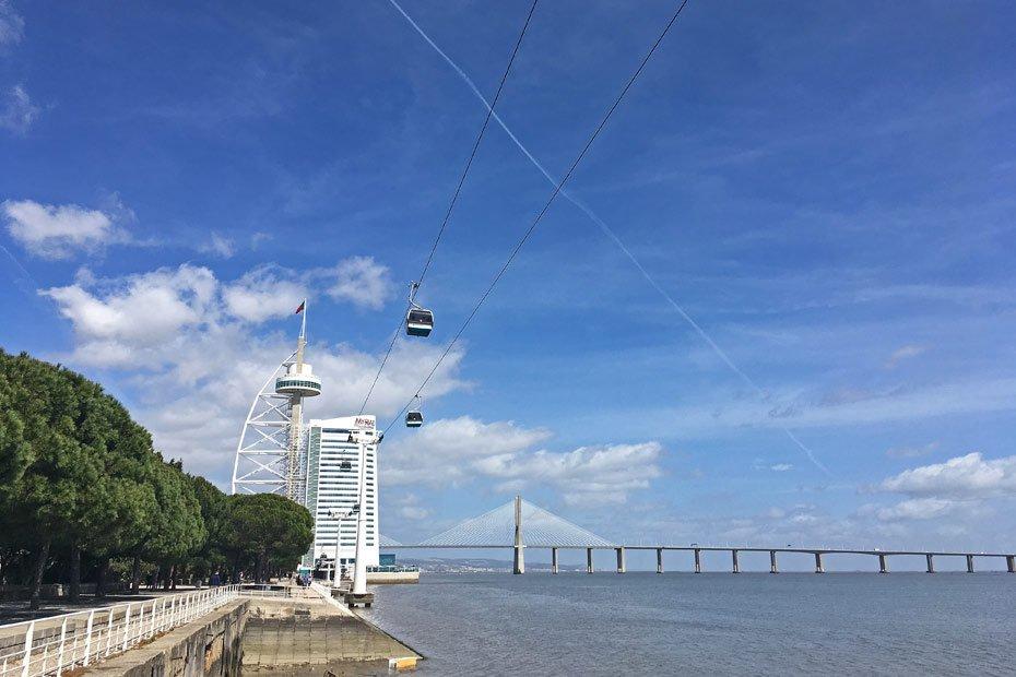 Lissabon Tipps: Vasco da Gama Brücke und Tower