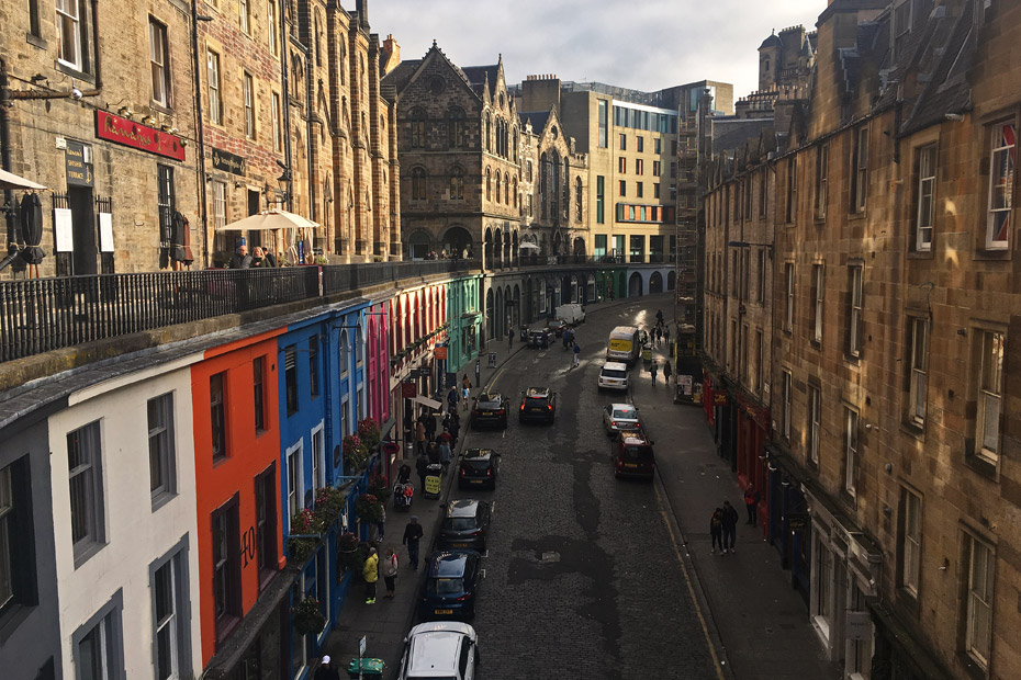 Edinburgh Sehenswürdigkeiten - Victoria Street