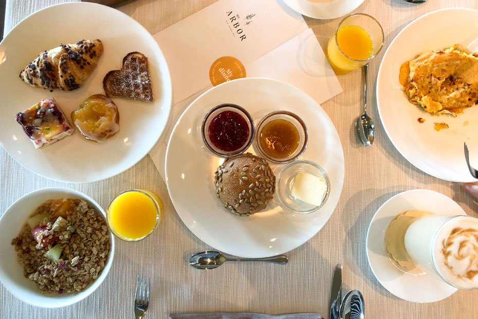 Frühstück im Hotel My Arbor