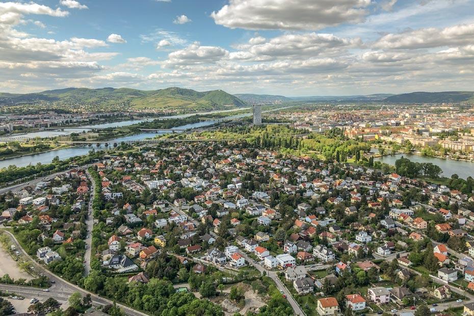 Aussicht vom Donauturm auf Wien