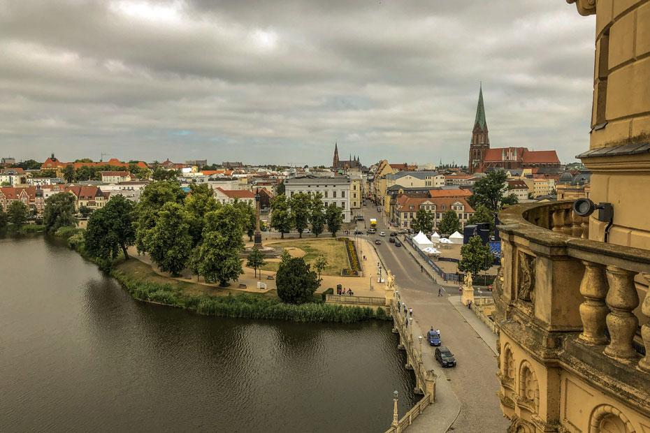 Sehenswürdigkeiten Schwerin: Ausblick vom Schloss